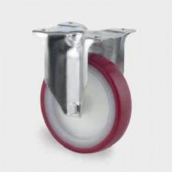 Roata din poliamida fixa 80 mm - 100 kg TENTE 3478UAR080P62 red
