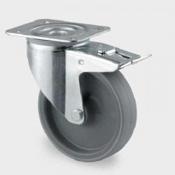 Roata pivotanta din poliamida cu frana 100 mm - 150 kg TENTE 3477UAR100P62 grey