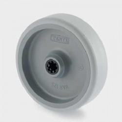 Roata poliamida 80 mm - 150 kg TENTE UAR080x38-Ø12 HL44,4 grey