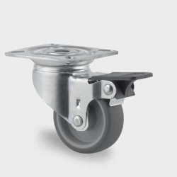 Roata pivotanta poliuretan cu frana 50 mm - 40 kg TENTE  2475PJI050P40