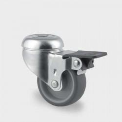Roata pivotanta poliuretan cu frana 50 mm - 40 kg TENTE 2475PJI050P30-11