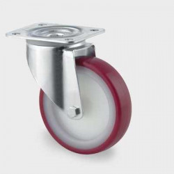 Roata pivotanta din poliamida 160 mm - 350 kg TENTE 3470UAR160P63 red