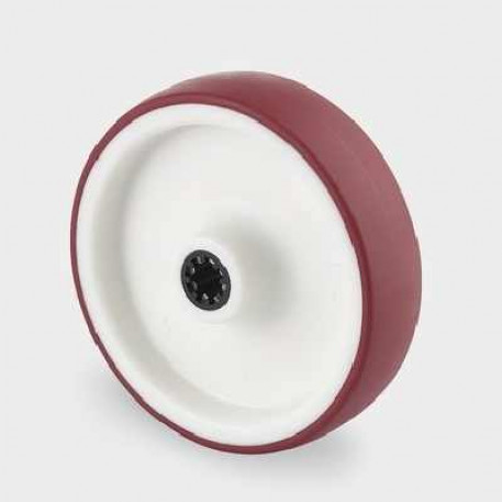 Roata din poliamida 125 mm - 200 kg TENTE UAR125x32-Ø12 HL44,4 red